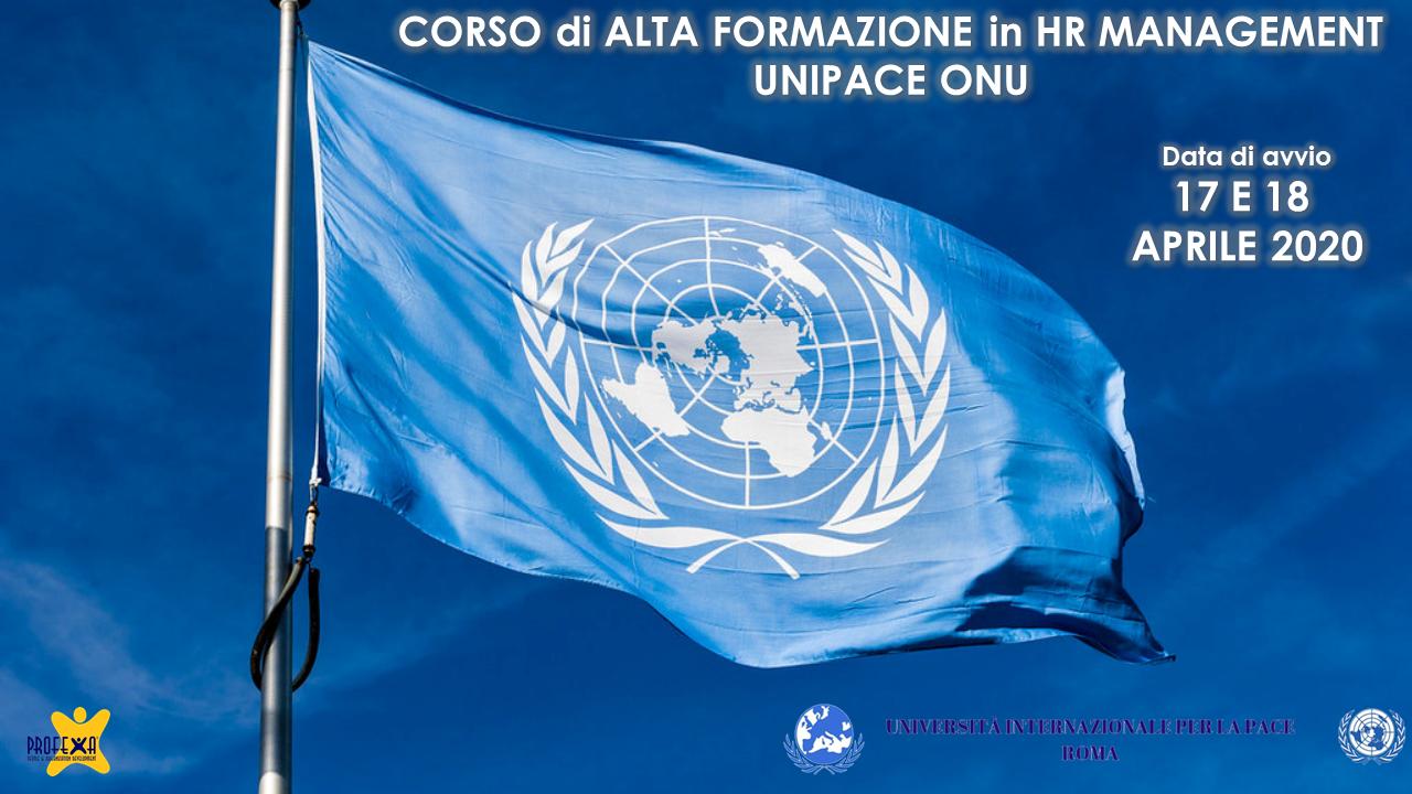 ALTA FORMAZIONE IN MANAGEMENT HR – UNIVERSITA' DELLA PACE ONU PROFEXA CONSULTING